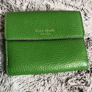Kate Spade New York Green Dual Side Accordian Wallet